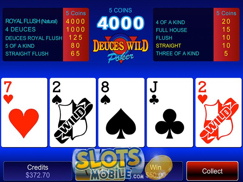 free deuces wild video poker games