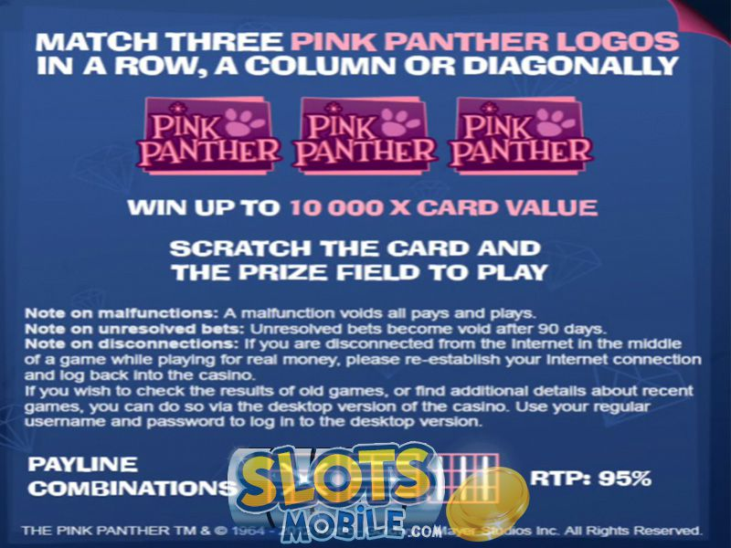 Play Pink Panther Scratch Cards at Casino.com