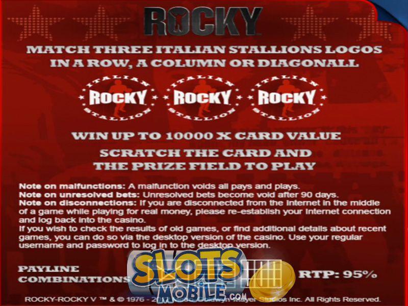Play Rocky Scratch at Casino.com UK