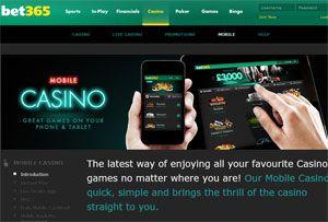 Bet365 Mobile Casino Cashback